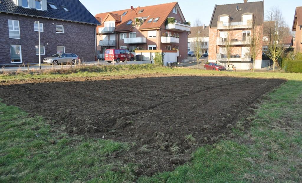 Das Ergebnis kann sich sehen lassen: Eine Fläche von etwa 160 m² ist fürs erste vorbereitet.