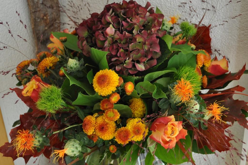 Ein Blumenstrauß für die Blumenwiese - geschenkt von einer Nachbarin.